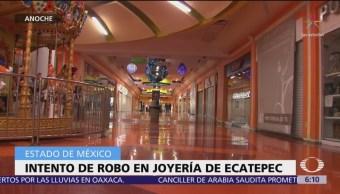 Intento de robo alerta a clientes en joyería de Ecatepec, Edomex
