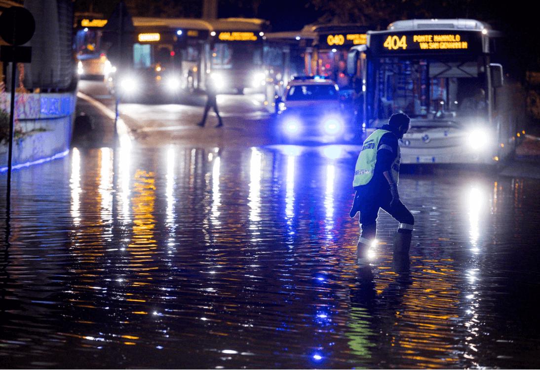 Inundaciones en Roma, Italia. (AP)