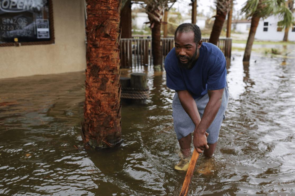 Inundaciones por huracán 'Michael', en Florida. (EFE)