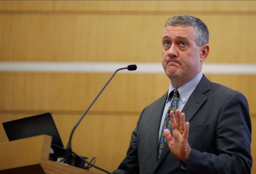 James Bullard, presidente de la Reserva Federal (Fed) en St. Louis, da una conferencia en Singapur (Reuters)
