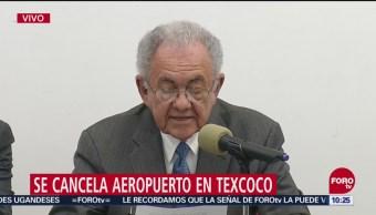 Javier Jiménez Espriú detalla cancelación de NAIM