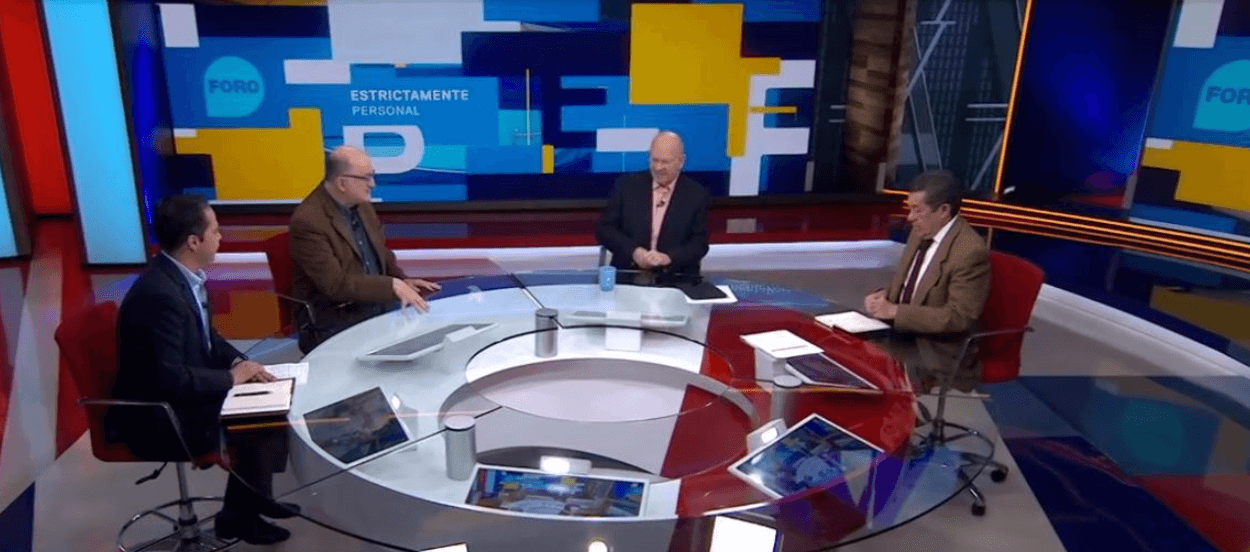 Javier Márquez, Roy Campos, Raymundo Riva Palacio y Rafael Cardona en Estrictamente Personal. (FOROtv)