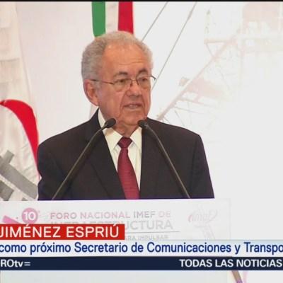 Jiménez Espriú: NAIM fue un proyecto sin planeación previa