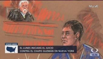 Juez niega posponer el juicio del 'El Chapo'