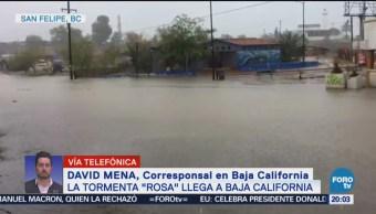Emiten Alerta Roja Tormenta Rosa Baja California