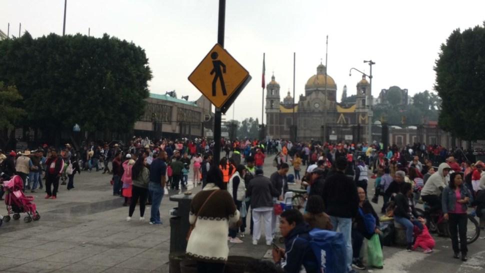 La Villa recibe peregrinación de hombres en la Basílica