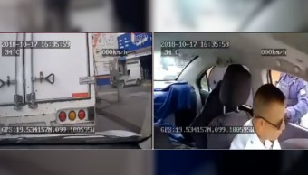 Ladrones disfrazados de militares roban camión en Tlalnepantla