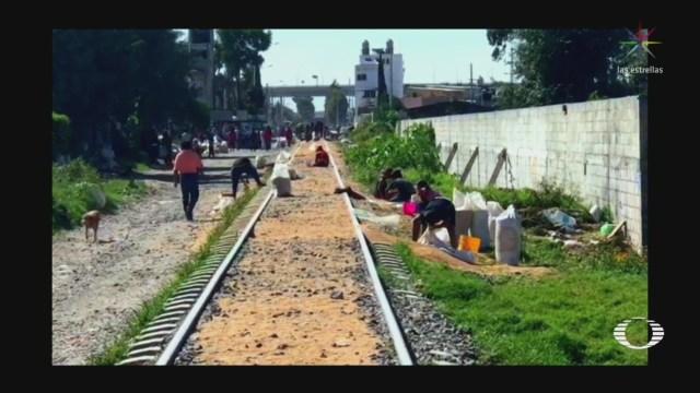 Ladrones Saquean Tren Trigo Puebla Rapiña