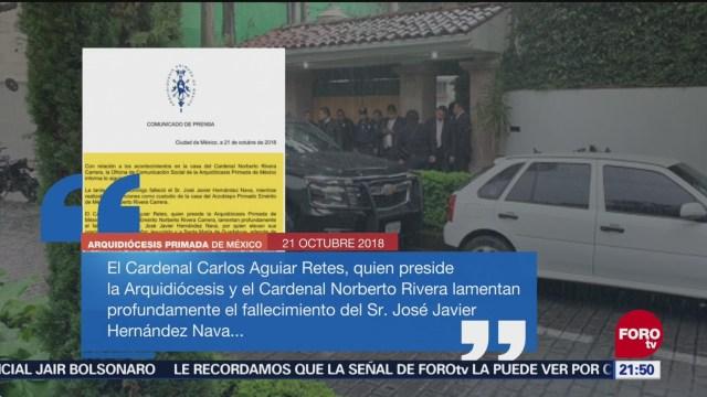 Arquidiócesis Lamenta Muerte Custodio Casa Cardenal Norberto Rivera