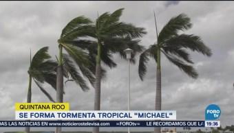 Se Forma Tormenta Tropical 'Michael' Quintana Roo Protección Civil