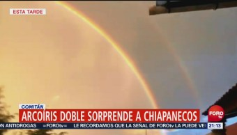 Aparece Un Arcoíris Doble Comitán, Chiapas