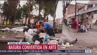 Le dan nueva vida a la basura: la transforman en arte