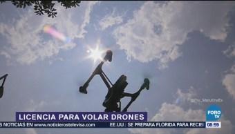 Licencia requerida para volar drones