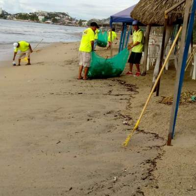 'Vicente' provoca lluvias y encharcamientos en costas de Guerrero