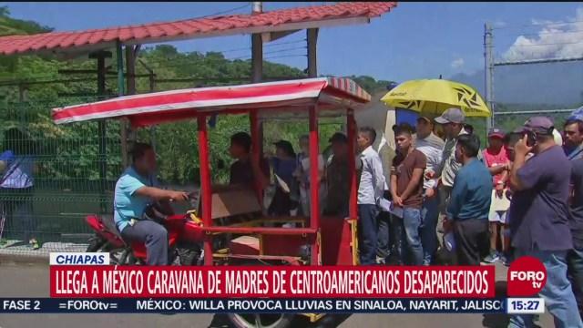 Llega a Chiapas caravana de madres de migrantes desaparecidos