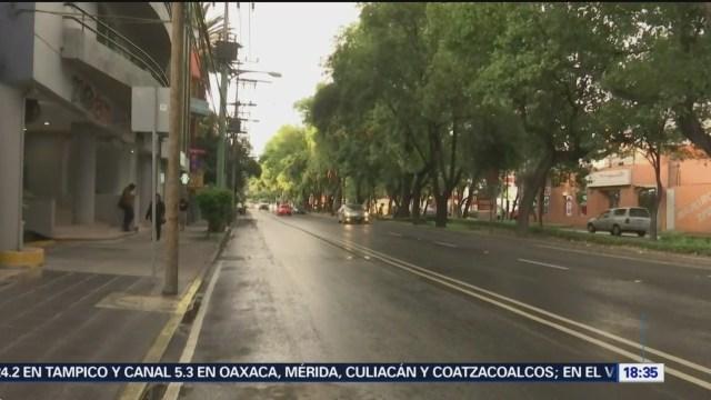 Llueve en la zona de Coyoacán