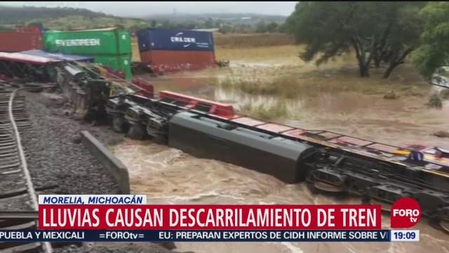 Lluvias Causan Descarrilamiento De Tren Morelia