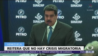 Maduro niega crisis migratoria en Venezuela a pesar de éxodo