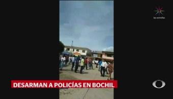 Ejército Policías Federales Controlan Agresiones Bochil Chiapas