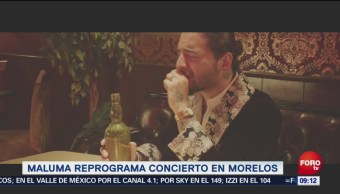 Maluma reprograma concierto en Morelos