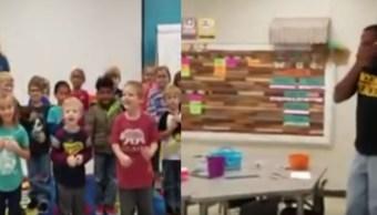 Video Niños sorprenden conserje sordo cumpleaños