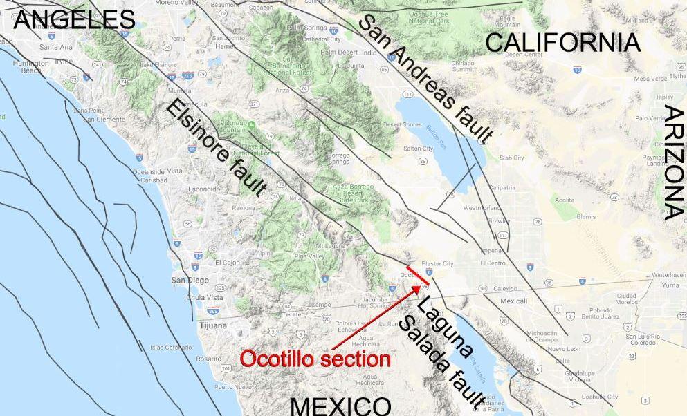 Estudio de la NASA identifica falla geológica que conecta México y EU