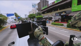 Marina Ejército Policía Federal Vigilan Acapulco Guerrero