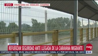 Refuerzan seguridad por caravana migrante en Chiapas