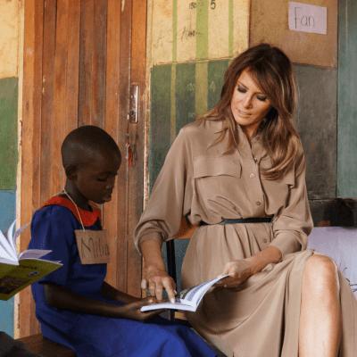 Melania Trump llega a Malaui, segunda parte de su gira por África