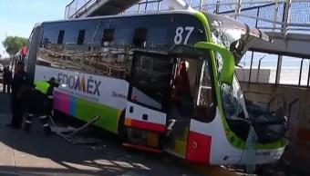 Pasajeros narran cómo fue el accidente del Mexibús en Ecatepec
