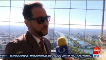 Mexicano Recibe Turistas Torre Eiffel Francia 100 Empleados 30 Nacionalidades Mexicano Jorge Carrasco