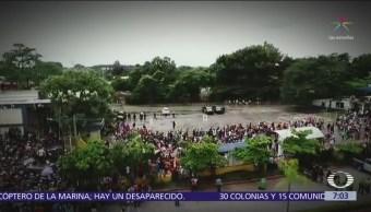 México desplegó operativo para impedir paso de caravana migrante