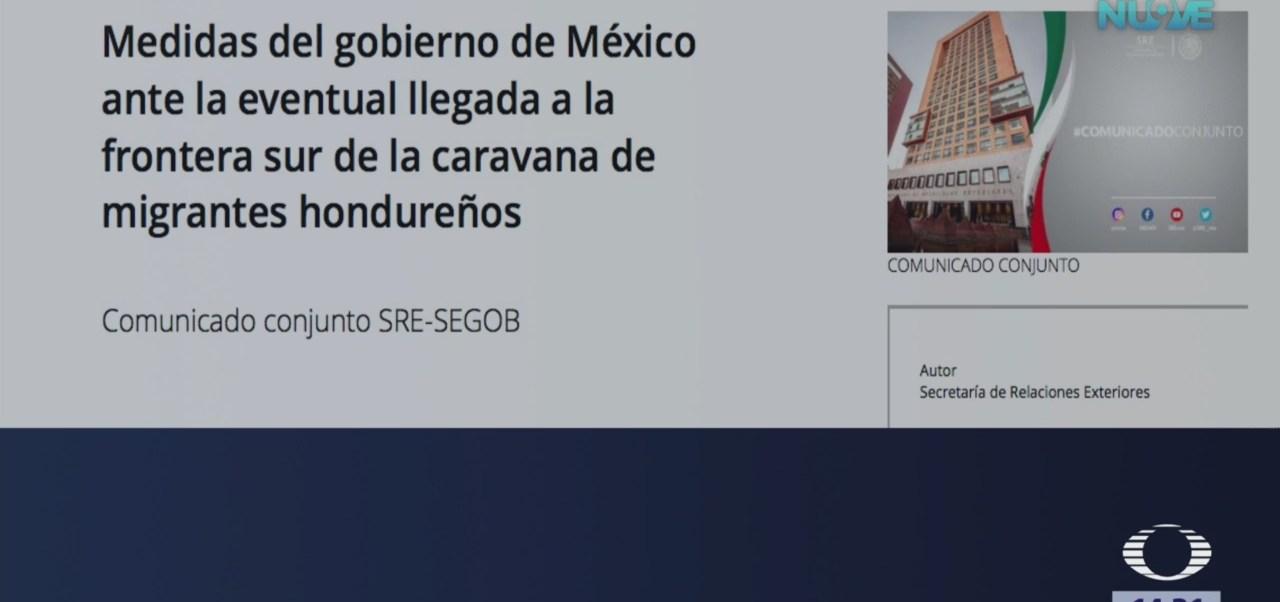 México explica medidas ante llegada de caravana migrante