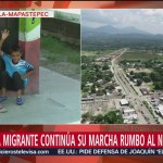 Migrante hondureño encuentra a su hijo extraviado en Chiapas