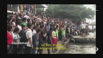 Migrantes Hondureños Avanzan Frontera Sur México