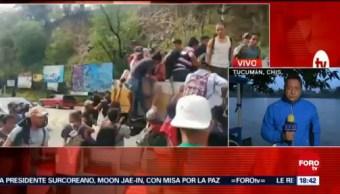 Migrantes hondureños cruzarán el Suchiate para llegar a Chiapas