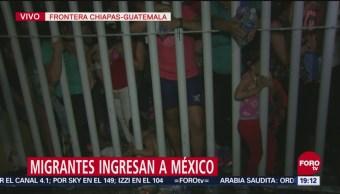 Módulos Atienden Ingreso Masivo Migrantes México Frontera