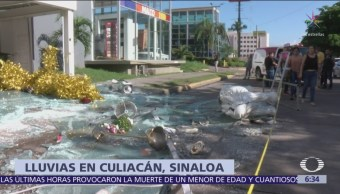 Muere menor por lluvias en Culiacán,