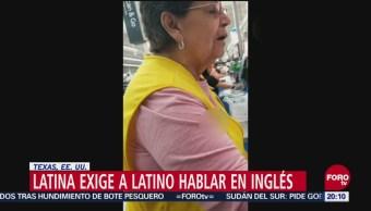 Mujer Latina Exige Salvadoreño Hablar Inglés Racismo