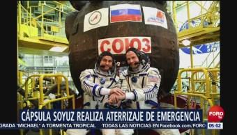 Nave Soyuz MS-10 aterriza de emergencia por falla en motor