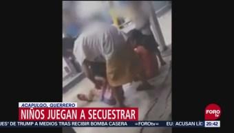 Niños Juegan Secuestrar Decapitar Video Redes Sociales