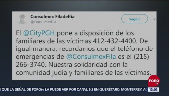 No Reportan Víctimas Mexicanas Tiroteo En Pittsburgh Consulado De México Filadelfia Tiroteo En Sinagoga