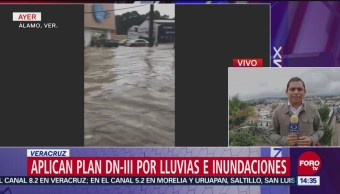 Reportan 52 municipios afectados por lluvias en Veracruz