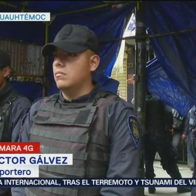 Realizan operativo por persona muerta en vecindad de Tepito