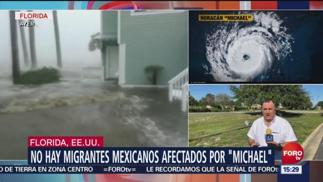 No hay migrantes mexicanos afectados por 'Michael' en Florida