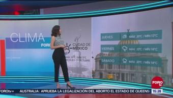 El Clima 'A las Tres' con Daniela Álvarez del 17 de octubre del 2018