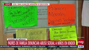 Padres de familia denuncian abuso sexual en Kinder
