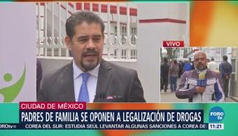 Padres de familia se oponen a uso recreativo de drogas