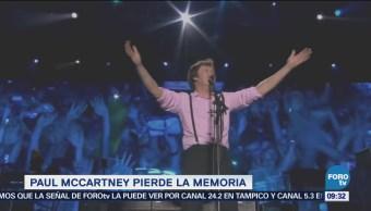 Paul McCartney pierde la memoria