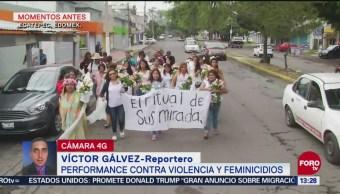 Performance Contra Violencia Feminicidios Ecatepec, Edomex Grupo De Mujeres Estado De México